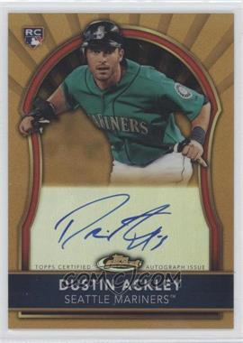 2011 Topps Finest Gold Refractor Rookie Autographs [Autographed] #76 - Dustin Ackley /75
