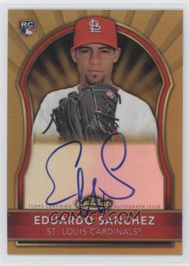2011 Topps Finest Gold Refractor Rookie Autographs [Autographed] #99 - Eduardo Sanchez /75