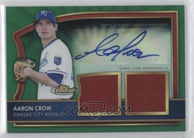 2011 Topps Finest Green Refractor Rookie Autographed Dual Relics [Autographed] #96 - Aaron Crow /149