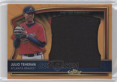 2011 Topps Finest Jumbo Patch Orange #JP-JT - Julio Teheran /10