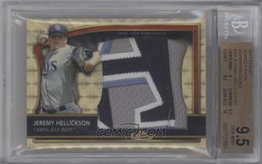 2011 Topps Finest Jumbo Patch Super-Fractor #JP-JH - Jeremy Hellickson /1 [BGS 9.5]