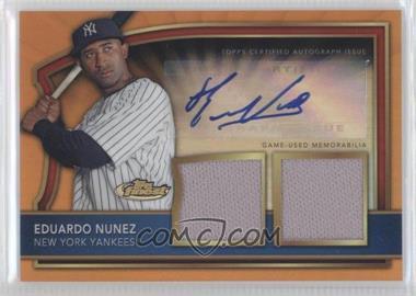 2011 Topps Finest Orange Refractor Rookie Autographed Dual Relics [Autographed] #62 - Eduardo Nunez /99