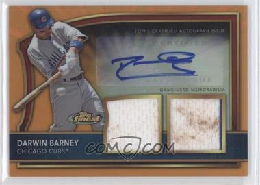 2011 Topps Finest Orange Refractor Rookie Autographed Dual Relics [Autographed] #92 - Darwin Barney /99
