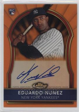 2011 Topps Finest Orange Refractor Rookie Autographs [Autographed] #105 - Eduardo Nunez /99
