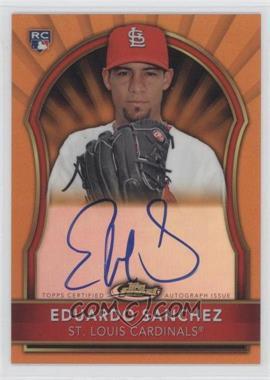 2011 Topps Finest Orange Refractor Rookie Autographs [Autographed] #99 - Eduardo Sanchez /99