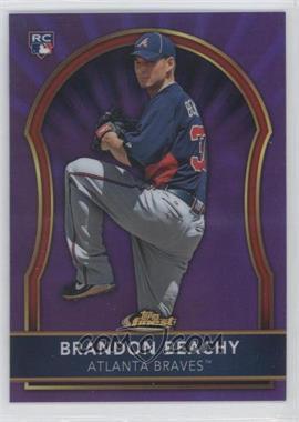 2011 Topps Finest Purple Refractor #77 - Brandon Beachy /5