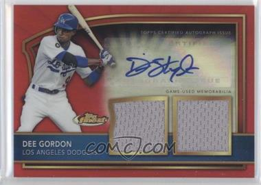 2011 Topps Finest Red Refractor Rookie Autographed Dual Relics [Autographed] #82 - Dee Gordon /25