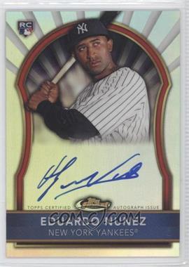 2011 Topps Finest Refractor Rookie Autographs [Autographed] #105 - Eduardo Nunez /499