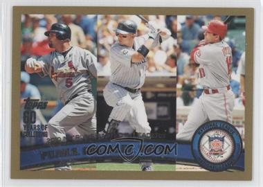 2011 Topps Gold 60 Years of Collecting #138 - Albert Pujols, Joey Votto /2011