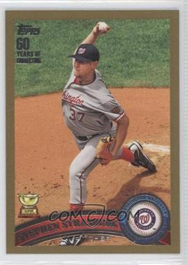2011 Topps Gold 60 Years of Collecting #183 - Stephen Strasburg /2011