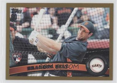 2011 Topps Gold 60 Years of Collecting #605 - Brandon Belt /2011