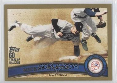 2011 Topps Gold 60 Years of Collecting #7 - Mickey Mantle /2011