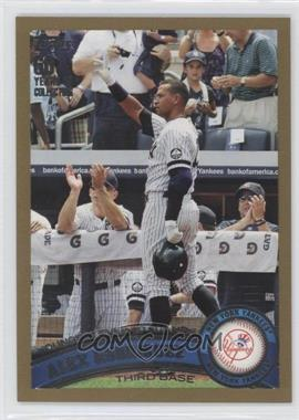2011 Topps Gold #155 - Alex Rodriguez /2011
