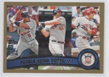 2011 Topps Gold #318 - Albert Pujols, Adam Dunn, Joey Votto /2011