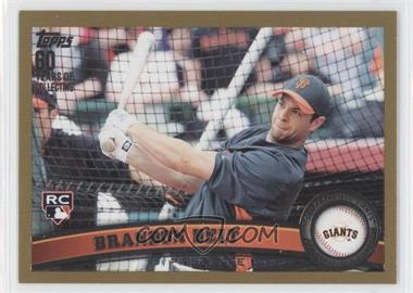 2011 Topps Gold #605 - Brandon Belt /2011