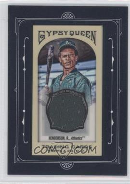 2011 Topps Gypsy Queen Framed Mini Relics #FMRC-RHE - Rickey Henderson