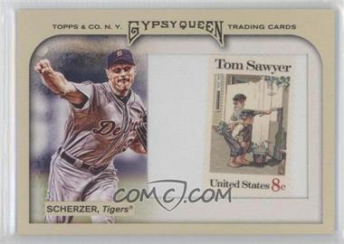 2011 Topps Gypsy Queen Framed Stamp #142 - Max Scherzer /10