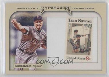 2011 Topps Gypsy Queen Framed Stamp #142 - Max Scherzer /10