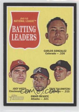 2011 Topps Heritage - [Base] - Retail Black Border #C12 - Joey Votto, Omar Infante, Troy Tulowitzki