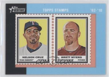 2011 Topps Heritage - Encased Stamps #NCBM - Nelson Cruz, Brett Myers /62