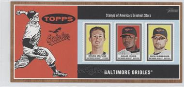 2011 Topps Heritage Box Loader Stamp Album #MJM - Brian Matusz, Adam Jones, Nick Markakis