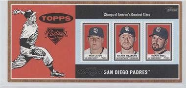 2011 Topps Heritage Box Loader Stamp Album #N/A - Mat Latos, Chase Headley, Heath Bell
