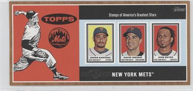 2011 Topps Heritage Box Loader Stamp Album #WRS - David Wright, Jose Reyes, Johan Santana