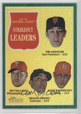 2011 Topps Heritage Chrome - [Base] - Green Border Refractor #C15 - National League Strikeout Leaders
