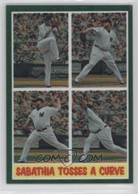 2011 Topps Heritage Chrome - [Base] - Green Border Refractor #C73 - CC Sabathia