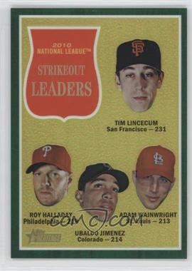 2011 Topps Heritage Chrome Green Border Refractor #C15 - Adam Wainwright