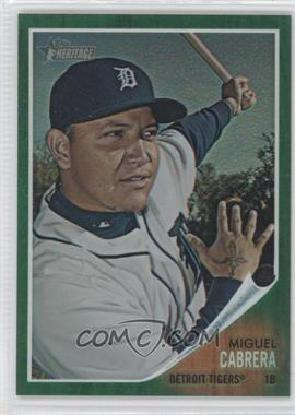 2011 Topps Heritage Chrome Green Border Refractor #C4 - Miguel Cabrera