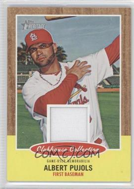 2011 Topps Heritage Clubhouse Collection Relic #CCR-AP - Albert Pujols
