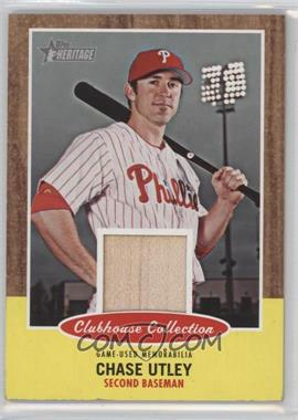 2011 Topps Heritage Clubhouse Collection Relic #CCR-CU - Chase Utley