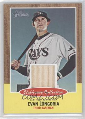 2011 Topps Heritage Clubhouse Collection Relic #CCR-EL - Evan Longoria
