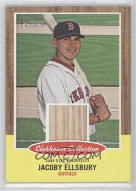 2011 Topps Heritage Clubhouse Collection Relic #CCR-JE - Jacoby Ellsbury