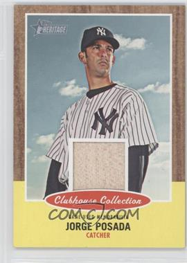 2011 Topps Heritage Clubhouse Collection Relic #CCR-JP - Jorge Posada