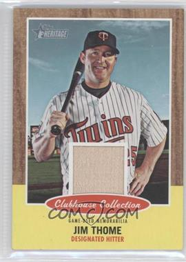 2011 Topps Heritage Clubhouse Collection Relic #CCR-JT - Jim Thome