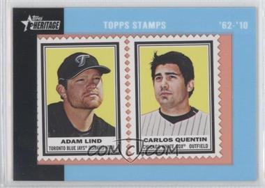 2011 Topps Heritage Encased Stamps #46 - Adam Lind, Carlos Quentin /62