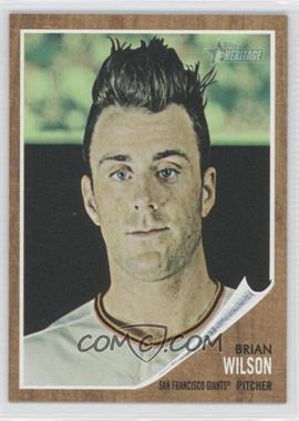 2011 Topps Heritage Green Tint #155 - Brian Wilson