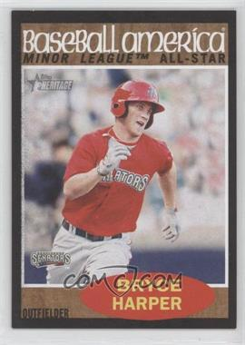 2011 Topps Heritage Minor League Edition - [Base] - Black Border #211 - Bryce Harper /62