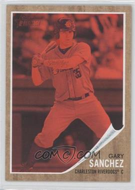 2011 Topps Heritage Minor League Edition - [Base] - Red Tint #39 - Gary Sanchez /620