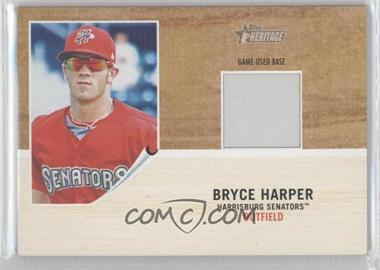 2011 Topps Heritage Minor League Edition - Game-Used Base Relics #GUB-BH - Bryce Harper