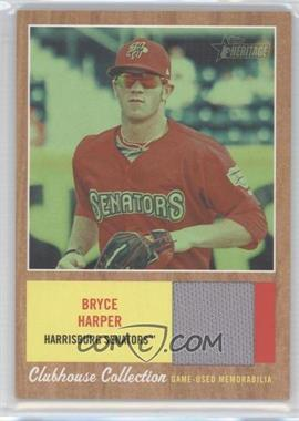 2011 Topps Heritage Minor League Edition Clubhouse Collection Relics Green Tint #CCR-BH - Bryce Harper /50