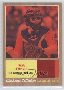 2011 Topps Heritage Minor League Edition Clubhouse Collection Relics Red Tint #CCR-TD - Travis d'Arnaud /99