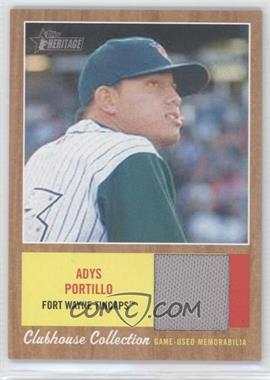 2011 Topps Heritage Minor League Edition Clubhouse Collection Relics #CCR-AP - Adys Portillo