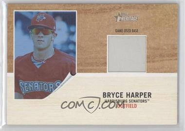 2011 Topps Heritage Minor League Edition Game-Used Base Relics Blue Tint #GUB-BH - Bryce Harper /299