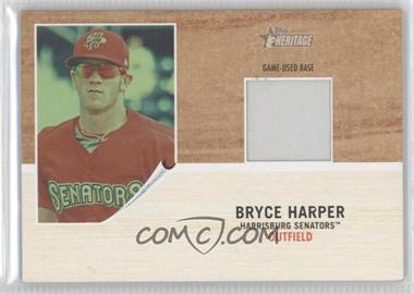 2011 Topps Heritage Minor League Edition Game-Used Base Relics Green Tint #GUB-BH - Bryce Harper /25