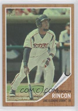2011 Topps Heritage Minor League Edition Green Tint #195 - Edinson Rincon /620