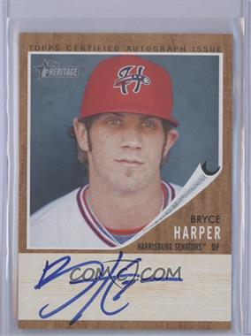 2011 Topps Heritage Minor League Edition Real One Certified Autographs [Autographed] #RA-BH - Bryce Harper /154