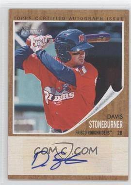 2011 Topps Heritage Minor League Edition Real One Certified Autographs [Autographed] #RA-DS - Davis Stoneburner /861